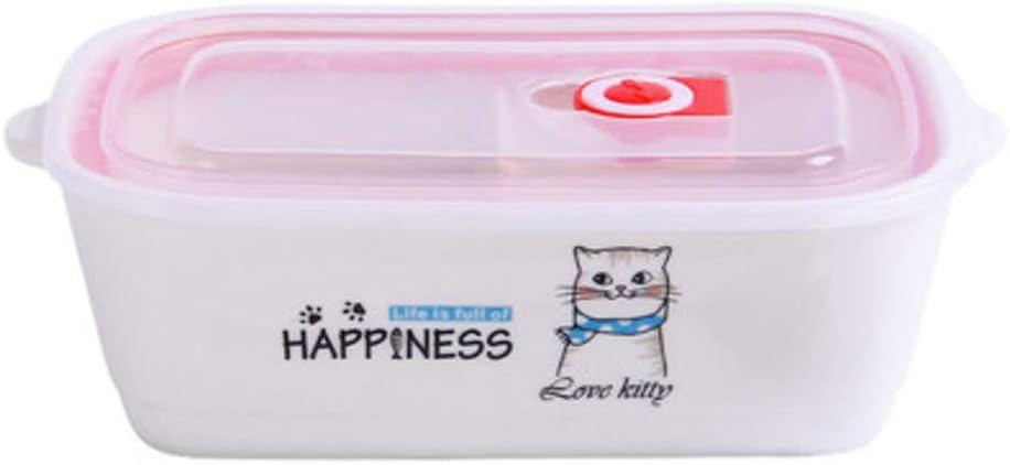 LALLing Kawaii Animal Ceramic Lunch Box Bowl Bento Lunch Box ...