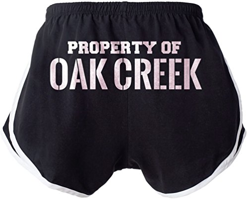 Property Of Oak Creek Booty Shorts Beach Gym Ladies Womens Sexy   Funny Xl E5