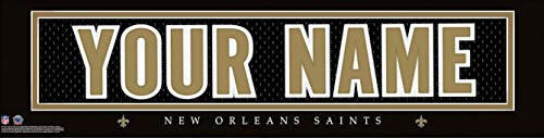 - New Orleans Saints NFL Jersey Nameplate Wall Print, Personalized Gift, Boy's Room Decor 6x22 Unframed Poster