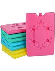 com-four® 8X Paquete Plano Extra frío - Ahorro de Espacio e Ideal para Caja fría y Bolsa fría - Elemento de enfriamiento [selección varía] (08 Piezas - pequeñas)