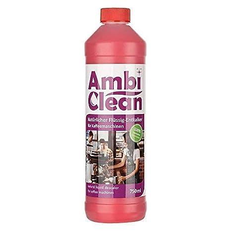 AmbiClean® Flüssig-Entkalker für Kaffeevollautomat, Kaffee-Maschine, Wasserkocher etc. | 100% Biologischer Kalk-Reiniger - 75