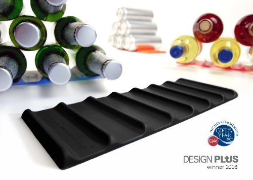 Cooks Innovations - Fridge Monkey Mat; Stacks Cans or Bottles - Black (Wine Rack For Fridge)