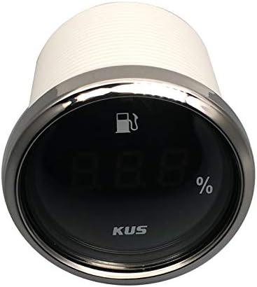 2 KUS Waterproof Digital Fuel Level Gauge Meter Indicator 0-190ohm Signal with Backlight 12V//24V 52MM