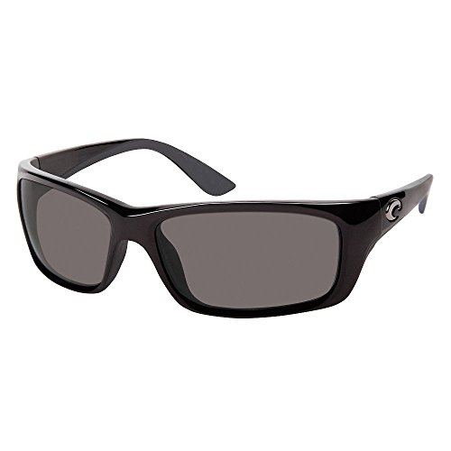 Costa Del Mar Jose Polarized Sunglasses, Shiny Black / Gray 580 Plastic by Costa Del Mar