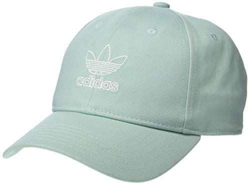 adidas Women's Originals Outline Logo Relaxed Adjustable Cap, Ash Green/White, One Size