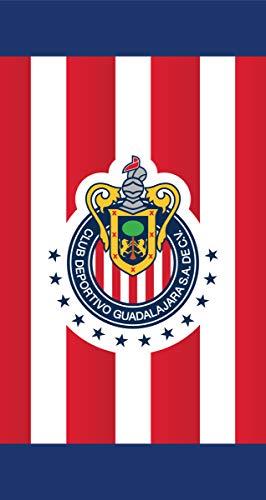3bce53a0715 Club Deportivo Guadalajara S.A.DE C.V. Chivas Officially Licensed Beach  Towel (Stripes (V7))