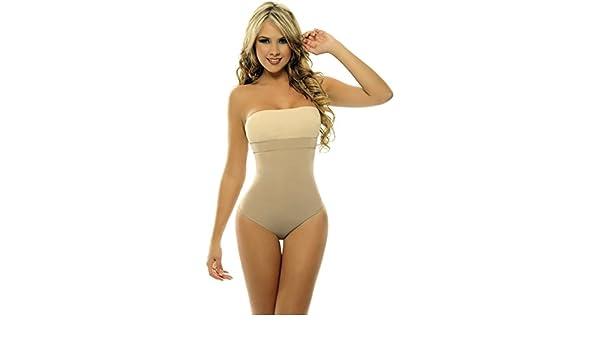 a9810630cbc86 Amazon.com  Body Shaper Faja Lycra-Nylon Braless Strapless Corset Panty- Shapewear Cincher  Beauty