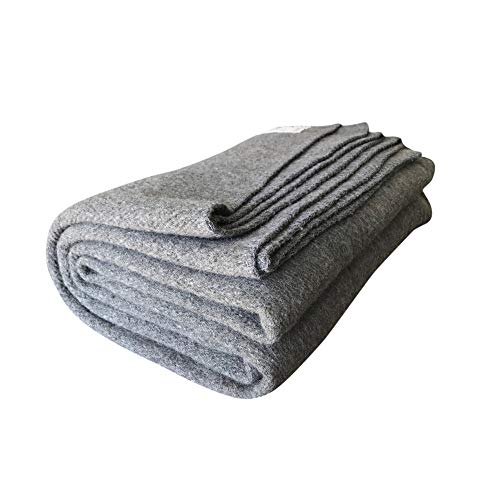 Woolly Mammoth Woolen Company Explorer Collection Wool Blanket (Gray)
