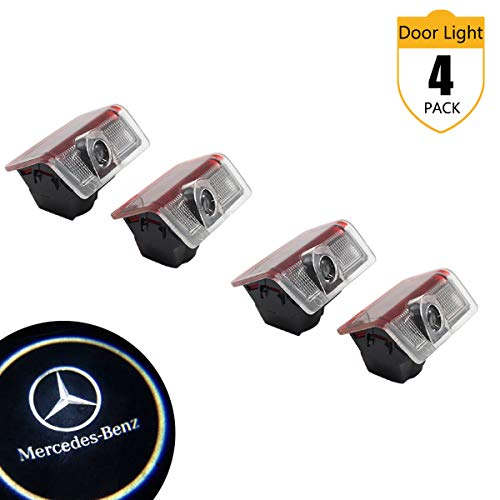 Mercedes Benz Car Door Lights, LED Logo Projector Ghost Shadow Welcome Lights for Mercedes Benz M(W166), E(W212), B(W246), A(W176), ML, C Coupe, NEWC Class, GL(x164), GLA, GLE, GLC, GLS Series(4 Pack)