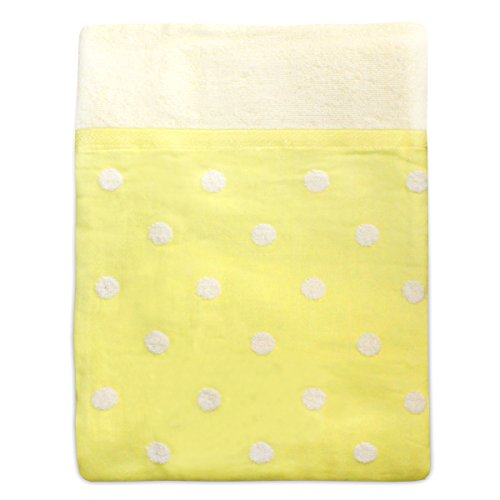 면 100% 표거즈 뒤 pile 타올 캣 도트무늬 싱글 사이즈 중후 타입 옐로우(140×190cm)