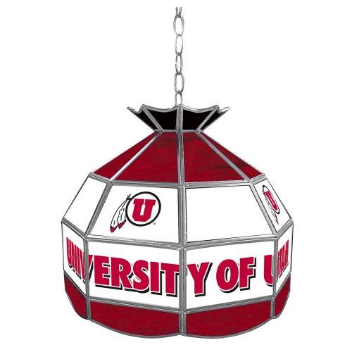 "NCAA University of Utah Tiffany Gameroom Lamp, 16"""