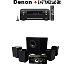 Denon AVR-X3500H 7.2-Channel AV Receiver with HEOS + Energy 5.1 Take Classic Home Entertainment System (Set of Six, Black) Bundle