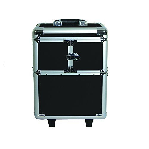 City Lights Lockable Aluminum Case on Wheels, Silver by City Lights