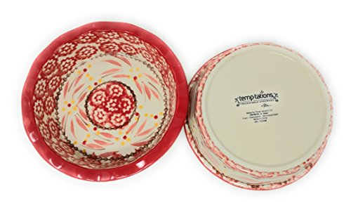 Temp-tations Set of 2 Mini Pie Pans, Deep Dish 5.75'' x 1.75'' each - Stoneware (Old World Red) by Temptations (Image #4)'
