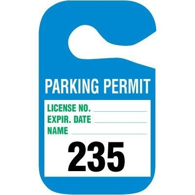 PARKING PERMIT/NUMBERED/RED