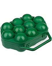 10 Egg Holder Plastic, Plastic Egg Container with Handle, Egg Carrier