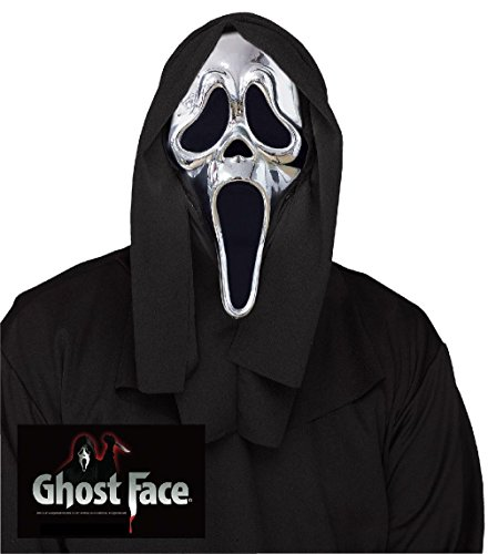 [25th Anniversary Scream Collectors Edition Mask Ghost Face Mask Silver Chrome] (Ghost Face Collectors Edition Adult Costumes)