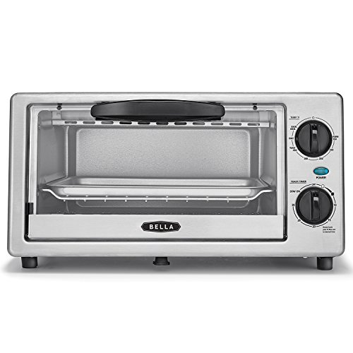 BELLA 4 Slice Countertop Toaster Oven, 1000 Watt Quartz Element by BELLA