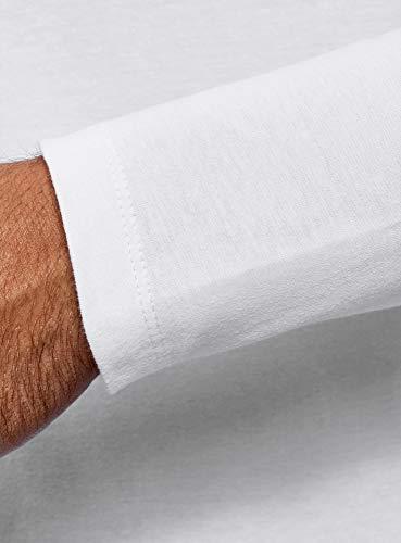 Sans Oodji Henley shirt Homme Longues À Blanc T 1000n Étiquette Ultra Manches wxqaZxrX