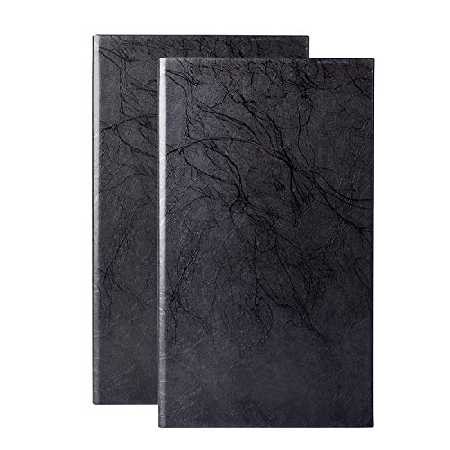 1PCS Menu Holder Book Style Menu Covers Double Fold Panel Menu for Restaurant,Bar, Lounge, Drinks, Wine List(12.5×7.2inch/ Steel Black)