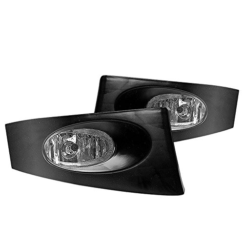 Winjet Fog Lights Compatible With 2007-2008 Honda FIT   Polycarbonate Resin Clear With Wiring Kit Driving Running Foglight Foglamp Lamps LED Super Bright   2007