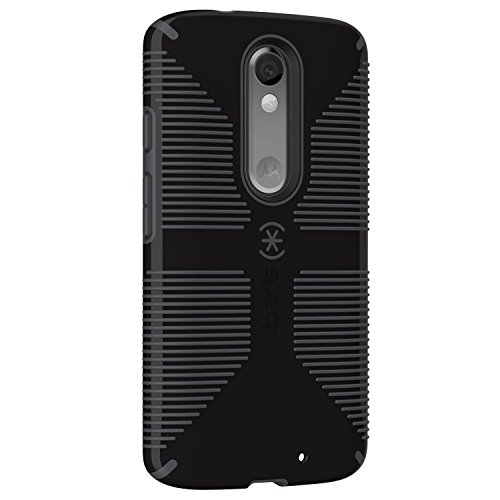 - Speck Products 73457-B565 CandyShell Grip Case for Motorola Droid Turbo 2, Black/Slate Grey