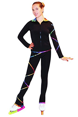 Ice Fire Figure Skating Criss Cross Pants Rainbow