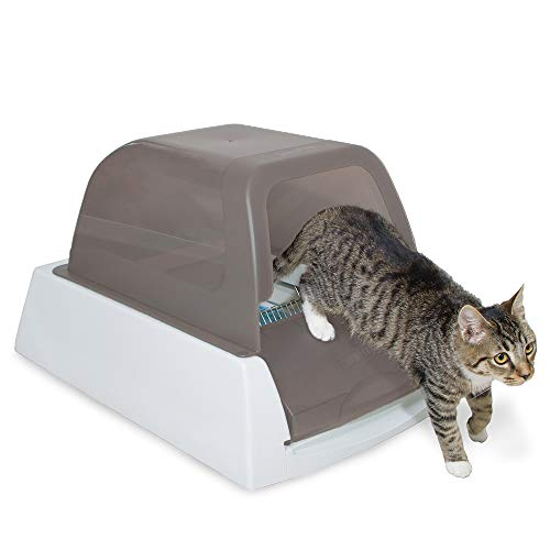 PetSafe ScoopFree Ultra Automatic Self Cleaning Hooded Cat Litter Box – Includes Disposable Trays with Crystal Litter…