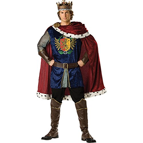 Illusive Man Costume (InCharacter Costumes Men's Noble King Costume, Burgundy/Blue, Large)