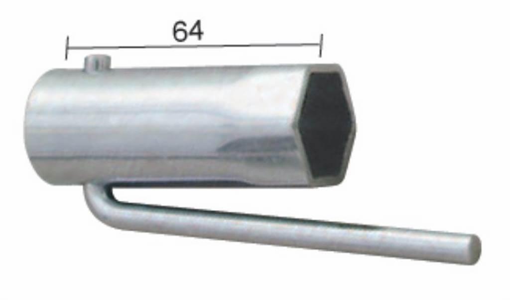 chiave per candela per ciclomotori pieghevole hex 21mm BUZZETTI 19340