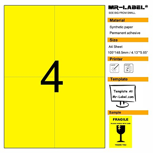 Yellow Blank Labels - 6