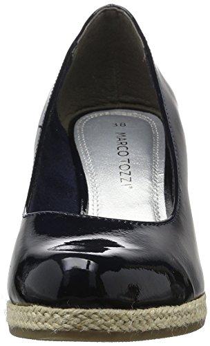 Marco Tozzi 2-2-22440-28 200, Zapatos de Cuñas Mujer, Azul (Navy 805), 39 EU