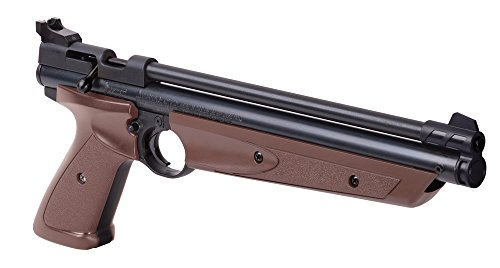 Crosman P1377BR American Classic Multi Pump .177-Caliber Pneumatic Pellet Air Pistol, Brown