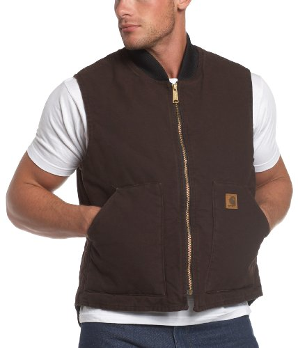 UPC 035481314384, Carhartt Men's Sandstone Vest Arctic Quilt Lined,Dark Brown,XX-Large