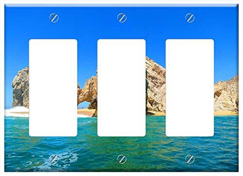 Switch Plate Triple Rocker/GFCI - El Arco Cabo Mexico Beach Ocean Sky Water Coast