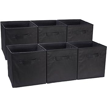 AmazonBasics Foldable Storage Cubes - 6-Pack Black  sc 1 st  Amazon.com & Amazon.com: AmazonBasics Foldable Storage Cubes - 6-Pack Black ...