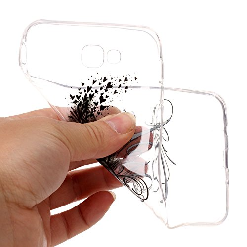 CaseHome Samsung Galaxy J7 Prime gel de Silicona TPU Funda (Con Gratis Lápiz táctil) Guay ModaVistosoPatrónDiseñoCristalClaro Ultra FinoTransparenteEncaja PerfectoFlexibleSuaveCauchoParacho Pluma Aves