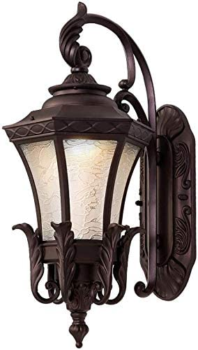 Anticuario Arquitectura exterior Lámpara de pared Iluminación de jardín Balcón apliques de pared Linterna de decoración interior impermeable al aire libre del carril Porche luces que encienden fuera d: Amazon.es: Hogar