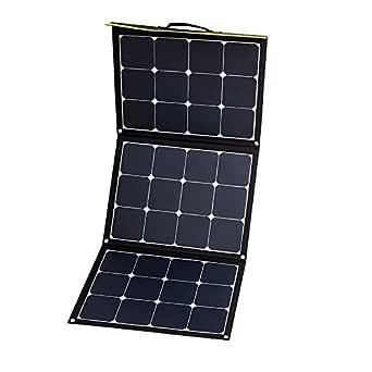 WATTSTUNDE Sunfolder - Funda solar portátil para exteriores (12 V, módulo solar plegable, sin regulador de carga (120 W)