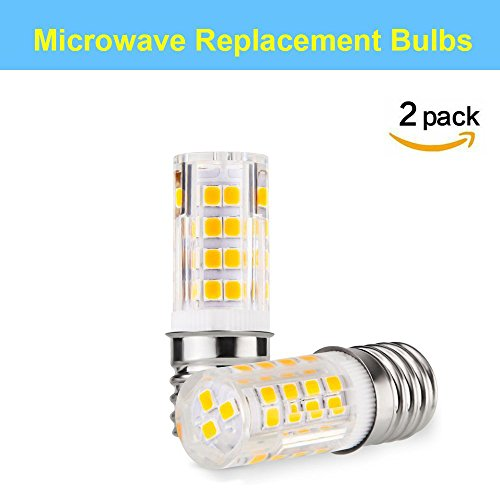 Makergroup Stovetop Microwave Replacement Bulbs E17 LED Lights Bulbs Perfect for Microwave Oven hood Lights Stove hood lights Under cabinet light Warm White 3000K 120V (Perfect A-lite Full Hood)