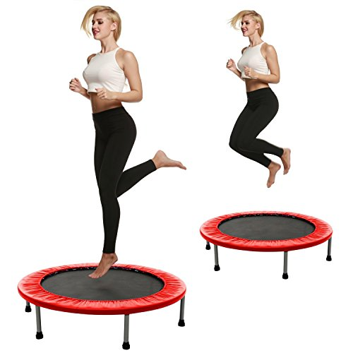 Dtemple Foldable Trampoline Home Exercise Fitness for Women Children Max Load 220Lbs 38inch (Red) US STOCK Review