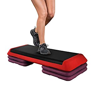 PLLXY Aerobic Exercise Step Deck,Adjustable Workout Fitness Stepper Equipment Step Platform with Risers for Indoor Sport…
