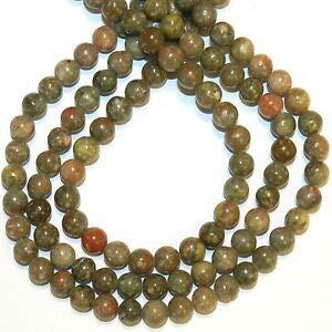 (GR523 Autumn Jasper 6mm Round Natural Gemstone Beads 16