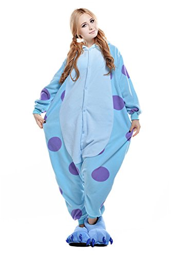 VU ROUL Halloween Costumes Adult Outfit Women's Sullivan Oneise Pajamas Medium Blue]()