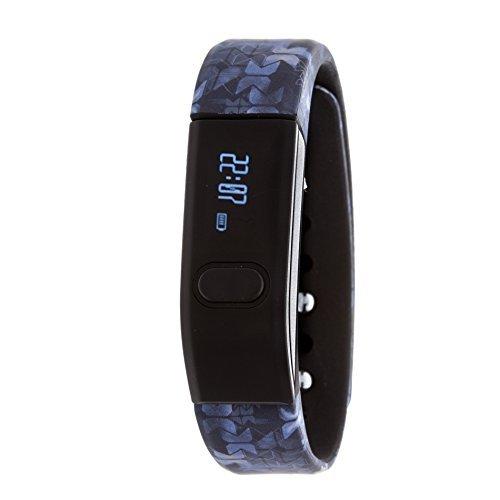 RBX Active RBXTR001M3 Bluetooth Activity Tracker, Black/Blue