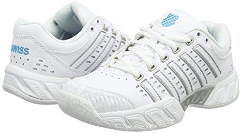 EU Swiss Hawaiian Blanc Bigshot Tennis Performance LTR Chaussures White de Light Ocean Carpet Femme K Hvq76UwdxH