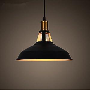 Lampada a Sospensione da Vintage Industriale E27 Plafoniera Retro pendente in Metallo nero (Type B) 41ZHXOZv1PL. SS300