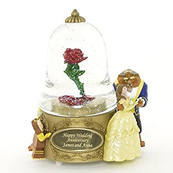 Beauty The Beast Personalised Snow Globe Amazon Co Uk Toys Games