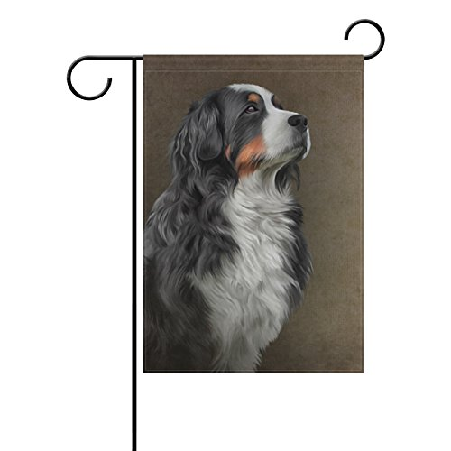 My Daily Bernese Mountain Dog Decorative Double Sided Garden Flag 12 x 18 inch - Bernese Mountain Dog Garden Flag