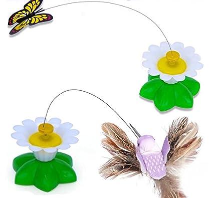 Juguete para gatos marca Bescita, eléctrico, con mariposas giratorias, divertido e